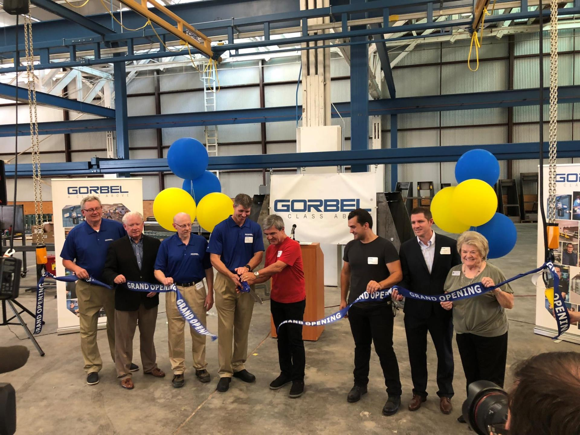Gorbel Ribbon Cutting, July 2018
